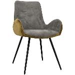 Stuhl DIVAN, grau/braun, 57x60x94,5 cm