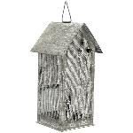 HausWindLicht ClairBlanc, grau, Metall, 10x9x21 cm