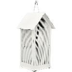 HausWindlicht ClairBlanc, weiß, Metall, 10x9x21 cm