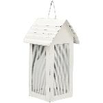 HausWindlicht ClairBlanc, weiß, Metall, 10x11x20 cm