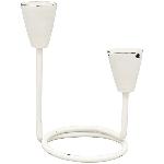 KerzenHalter ClairBlanc, weiß, Metall, 17x11x18 cm