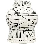 Vase XOXO, Stoneware, 15,6x15,6x20 cm