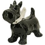 Hund Gris, schwarz, Dolomite, 13x5,2x10,2 cm