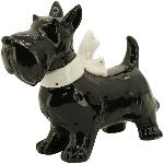 Hund Gris, schwarz, Dolomite, 17,5x7x14,2 cm