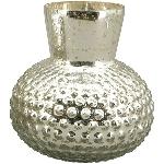 Vase Verrerie, silber, Glas, 12,5x12,5x12,5 cm