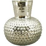 Vase Verrerie, silber, Glas, 16x6x18 cm