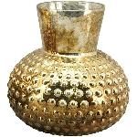 Vase Verrerie, gold, Glas, 12,5x12,5x12,5 cm