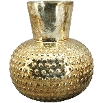Vase Verrerie, gold, Glas, 16x6x18 cm