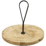 Tablett Dost, Holz/Metall, 30x30x27 cm