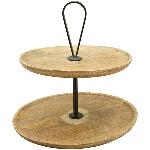 Etagere Dost, Holz/Metall, 30x30x37,5 cm