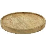 Tablett rund Dînette, Holz, 30x30x3,5 cm