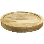 Tablett rund Dînette, Holz, 40x40x3,5 cm