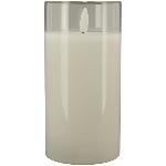 LED Kerze Lumière, weiß, 7,5x7,5x15 cm