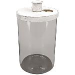KerzenHalter ClairBlanc, weiß, Metall/Glas, 12x12x15,5 cm
