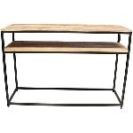 Tisch Puri, Metall/Holz, 120x40x78 cm