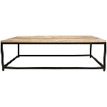 TischSet/2 Puri, Holz/Metall, 120x80x38 cm, 110x70x32 cm