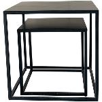 Tisch Set/2 Puri, Metall, 45x45x45 cm, 35x35x35 cm