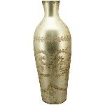 Vase Aurum, Glas, 15x15x42 cm