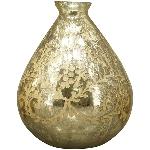 Vase Aurum, Champagner, Glas, 23x23x28 cm