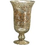 Vase Aurum, Glas, 15x15x27 cm