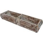 Kasten Antiquité, weiß, Holz, 57x15x10 cm