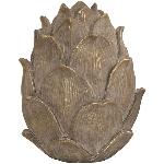 Zapfen Bronze, bronze, Polyresin, 13x13x15,5 cm