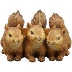 EichhörnchenPlanzenSchale Lilian, Polyresin, 28,5x26,2x17 cm