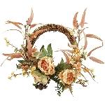 Rose Wreath ArtificialNature, 40 cm
