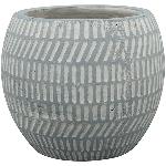 Topf Valo , grau, Keramik, 15x15x13 cm