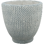 Topf Valo , grau, Zement, 11x11x11 cm