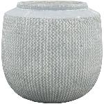 Vase Valo , grau, Zement, 28x28x27,5 cm