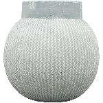 Vase Valo , grau, Zement, 24x24x24 cm