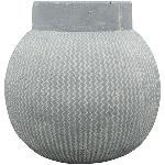 Vase Valo , grau, Zement, 29,5x29,5x29,5 cm