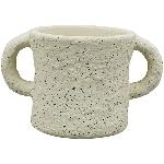 Topf MusH, Zement, 17x11x10 cm