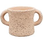 Topf MusH, pink, Zement, 13x8x7 cm