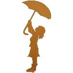 GartenStecker Regenschirm Tôle, rusty, Metall, 36,5x103 cm