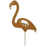 GartenStecker Flamingo Tôle, rusty, Metall, 24x0,5x45 cm