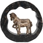 PferdeSkulptur Artisanal, Holz/Polyresin, 29x6,5x28 cm