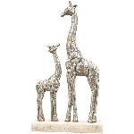 GiraffeSkulptur Artisanal, Holz/Polyresin, 22,5x7,5x42 cm