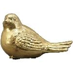 Vogel Aurum, gold, Polyresin, 14x8,5x8 cm