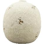 Vase SilO, weiß, Stoneware, 19x19x20 cm