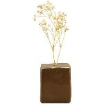 Vase ikebana, braun, Porzellan, 5x4,5x6 cm
