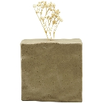 Vase ikebana, grau, Porzellan, 10,6x5x10,5 cm