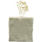 Vase ikebana, weiß, Porzellan, 10,6x5x10,5 cm