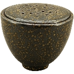 Vase ikebana, schwarz, Porzellan, 10,3x10,3x8,8 cm