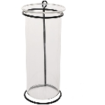 Vase Sobre, schwarz, Metall/Glas, 7x7x16 cm