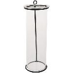 Vase Sobre, schwarz, Metall/Glas, 7x7x19 cm