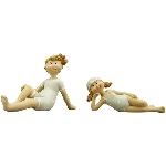 Kinder Sannie, Polyresin, 11x4x8 cm
