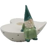KerzenHalter Dolomite, Keramik, 11x10,5x9 cm