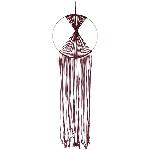 Wandhänger Deco SAMT, mauve, Seil/Metall, 100 cm